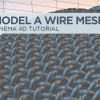 Model A Wire Mesh And Microphone In Cinema 4D