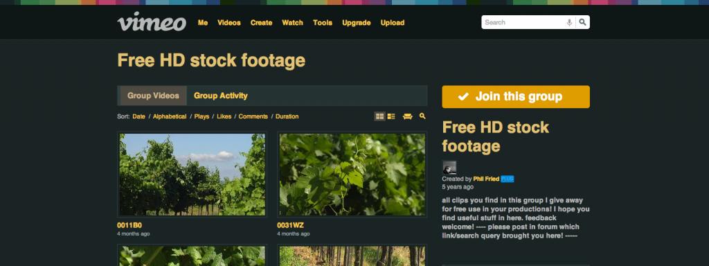 Vimeo free HD