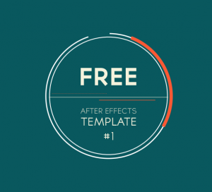 free after effects template 1 2d logo introduction transition