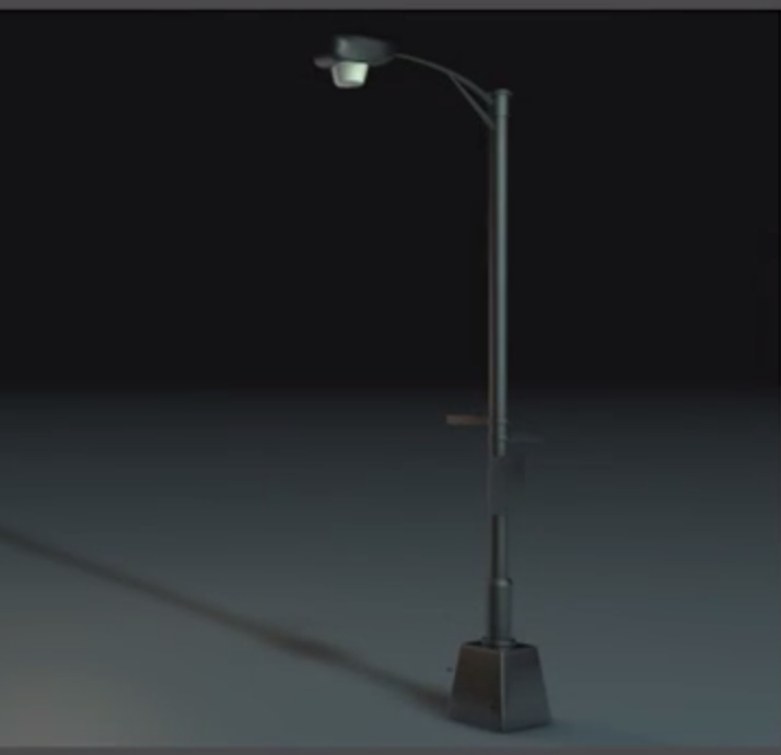 street lamp cinema 4D